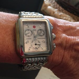 Michele Deco Stainless Watch